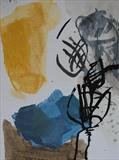 Plant with Farben 2010 by Dianna Brinsden, Painting, Acrylic and Ink on paper